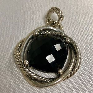 Jewelry - David Yurman 17mm Black Onyx Infinity Pendant